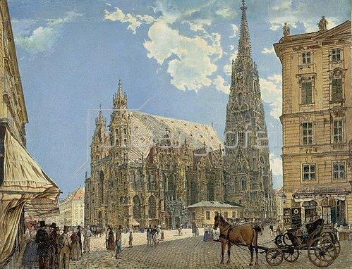 Rudolf von Alt: Der Stephansdom in Wien. 1831