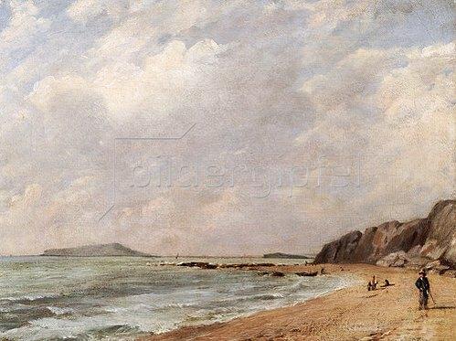 John Constable: Ansicht von Osmington Bay, Dorset, mit Blick auf Portland Island.