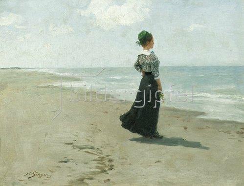 Hermann Seeger: Blick aufs Meer, Fanø Insel, Dänemark. 1913