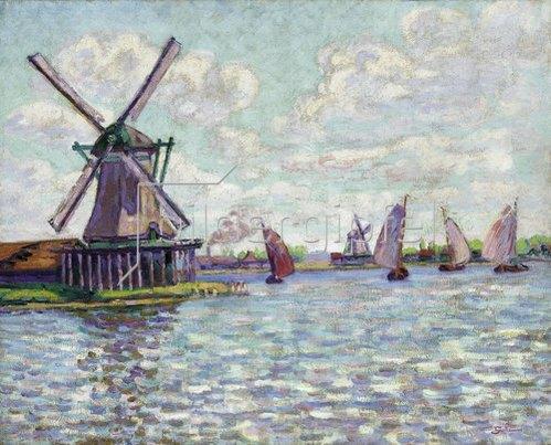 Jean-Baptiste Armand Guillaumin: Windmühlen in Holland. Um 1904