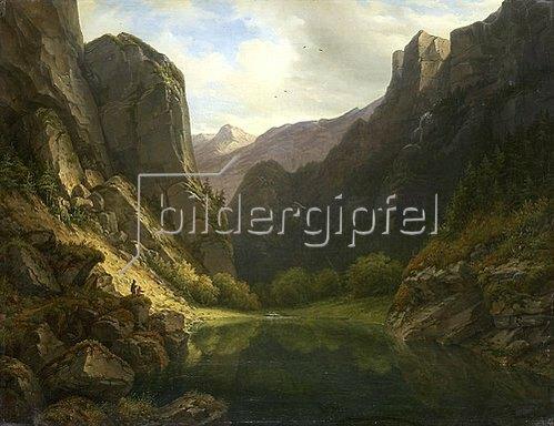 Carl Morgenstern: Bergsee. 1834