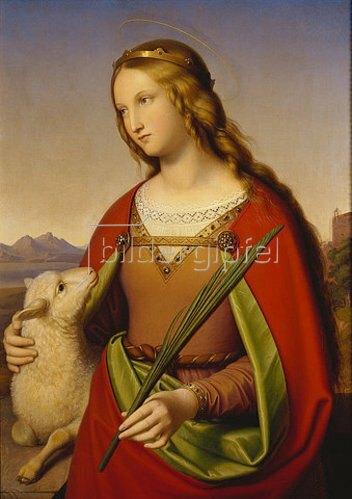Johann von Schraudolph: Die heilige Agnes. 1842