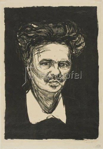 Edvard Munch: August Strindberg. 1896