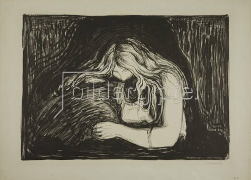 Edvard Munch: Vampyr II. 1895