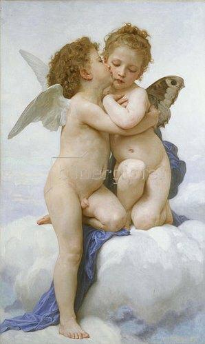 William Adolphe Bouguereau: Der erste Kuss. 1889