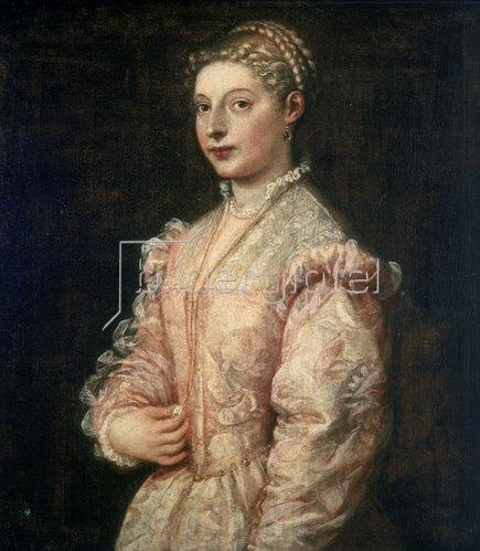 Tizian (Tiziano Vecellio): Bildnis von Lavinia. 1545/46
