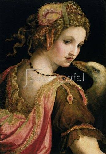 Ridolfo Ghirlandaio: Leda und der Schwan.