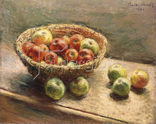 Claude Monet: Ein Korb mit Äpfeln. 1880