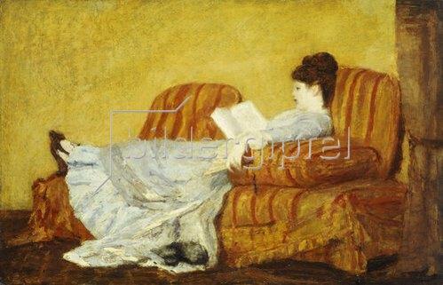 Mary Cassatt: Junge Frau beim Lesen.