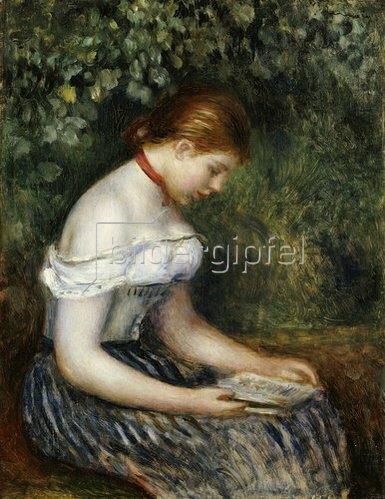 Auguste Renoir: Die Lesende (Sitzendes junges Mädchen). 1887