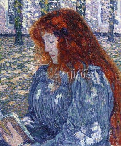 Theo van Rysselberghe: Lesende Frau. 1899
