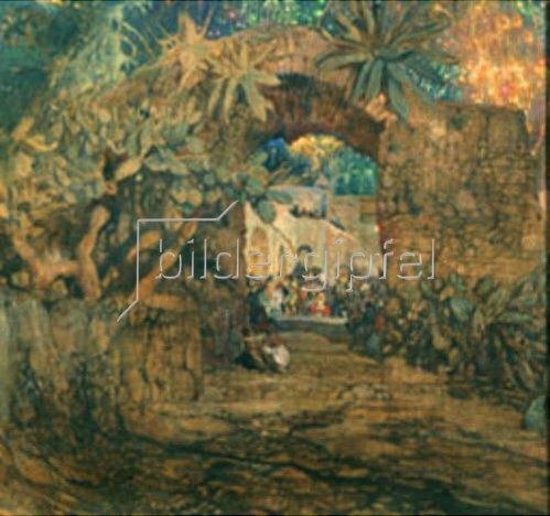 Isaak Brodskij: Taverne in einer Grotte. 1910