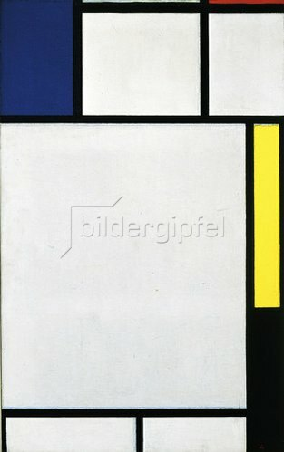 Piet Mondrian: Komposition in blau, rot, gelb und schwarz. 1922