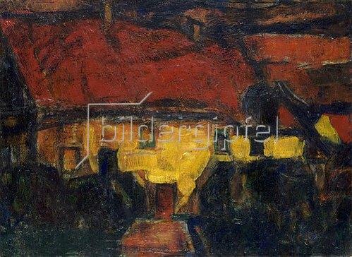Christian Rohlfs: Das gelbe Haus mit rotem Dach. Um 1913