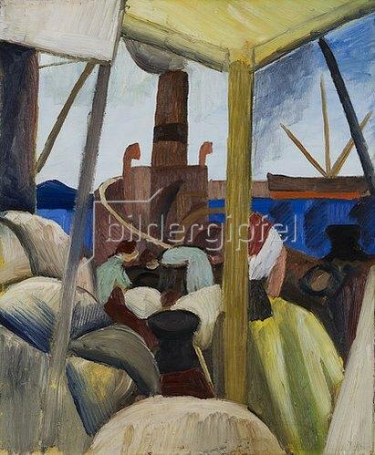 August Macke: Hafen in Tunis. 1914