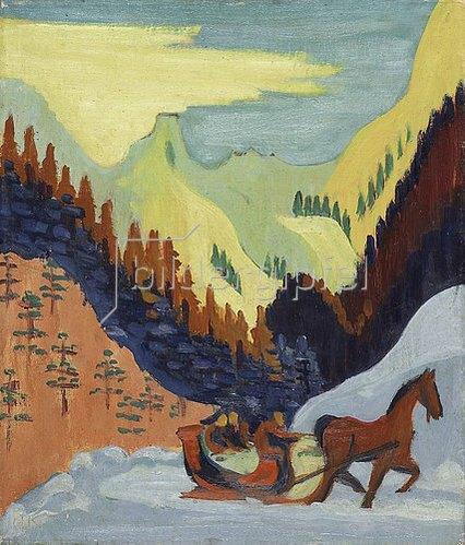 Ernst Ludwig Kirchner: Kleine Schlittenfahrt. 1927/29