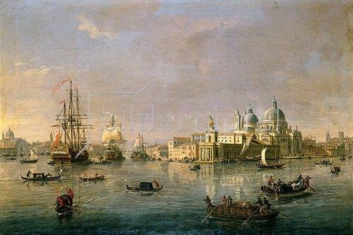 Gaspar Adriaens van Wittel: Hafeneinfahrt mit Guidecca von Venedig.