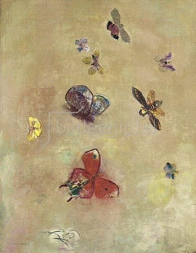 Odilon Redon: Papillons (Schmetterlinge). 1913