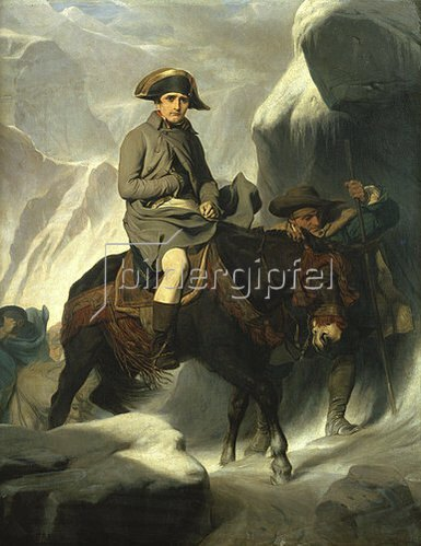 Paul Delaroche: Napoleon beim Überqueren der Alpen. 1848