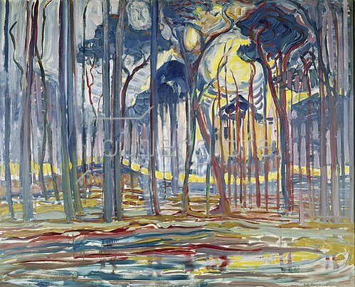Piet Mondrian: Komposition in Farbe B. 1917