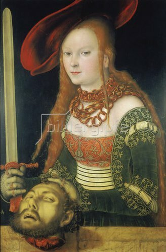 Lucas Cranach d.Ä.: Judith mit dem Haupt des Holofernes. Um 1530