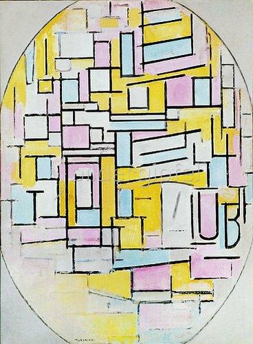 Piet Mondrian: Ovale Komposition. 1914