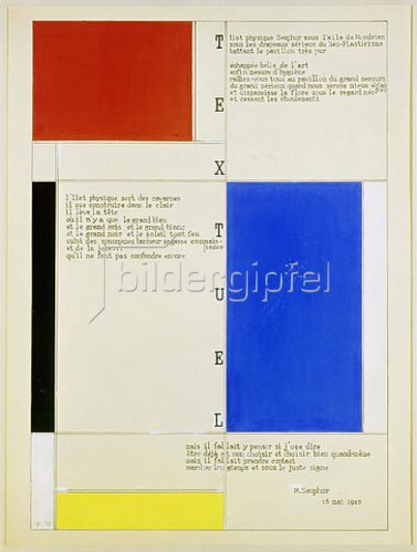 Piet Mondrian: Textuel. (Text von M. Seuphor). 1928