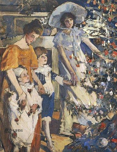Elizabeth Adela Stanhope Forbes: Der Weihnachtsbaum.