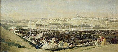 Francisco José de Goya: Die Wiese des heiligen Isidro. 1814
