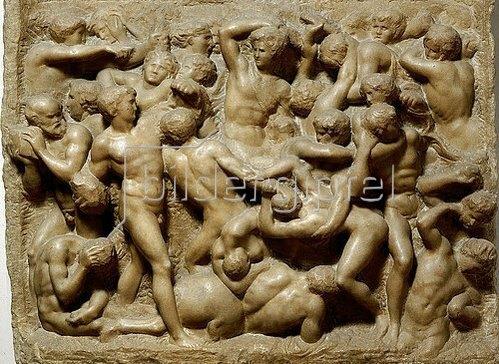 Michelangelo Buonarotti: Die Kentaurenschlacht. Um 1492