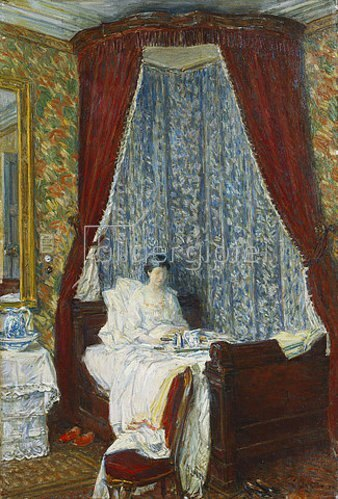 Frederick Childe Hassam: Frühstück im Bett. 1910