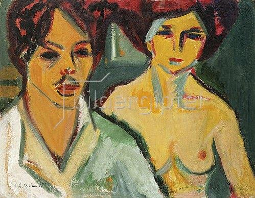 Ernst Ludwig Kirchner: Selbstbildnis mit Modell. 1905
