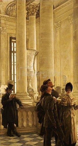 James Jacques Tissot: Im Treppenhaus des Louvre.