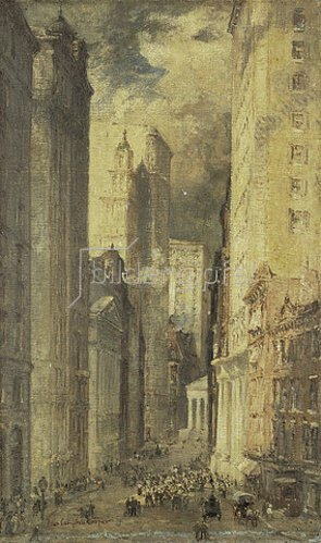 Colin Campbell Cooper: Financial District, Downtown Manhattan.