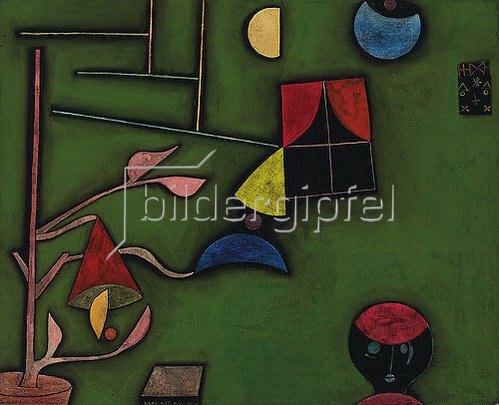 Paul Klee: Stillleben mit Pflanze und Fenster. 1927