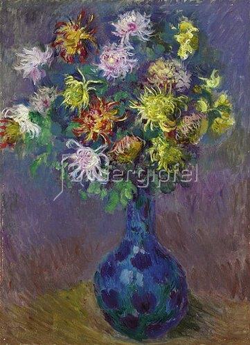Claude Monet: Vase mit Chrysanthemen. 1882