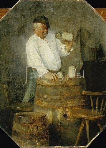 Edmund Harburger: Beaux Restes (Zecher mit leerem Krug). 1890.