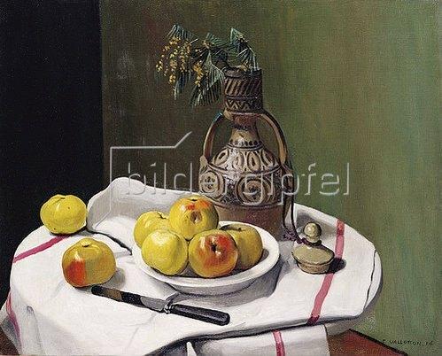 Felix Vallotton: Äpfel und eine marokkanische Vase. 1914