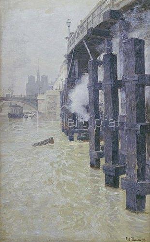 Frits Thaulow: Die Seine im December. Um 1892