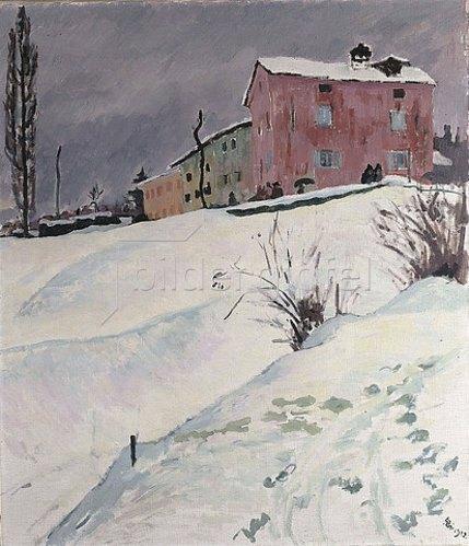 Giovanni Giacometti: La Casa Rossa. 1912