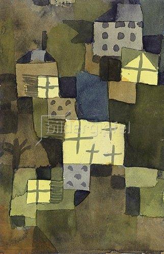 Paul Klee: M. D. Gelben Fenstern. 1919