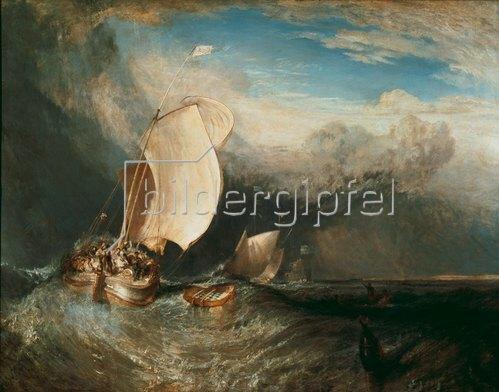 Joseph Mallord William Turner: Fischerboote. 1837/38