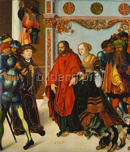 Lucas Cranach d.Ä.: Christus und die Ehebrecherin.
