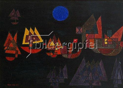 Paul Klee: Schiffe im Dunkeln. 1927