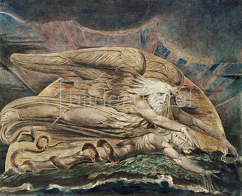 William Blake: Die Erschaffung des Adam. 1795/ um 1805