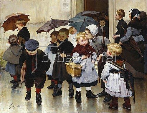 Henri Jules Jean Geoffroy: Schulausflug. 1888