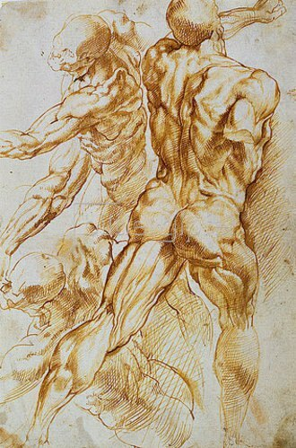 Peter Paul Rubens: Anatomische Studie: Kämpfende Akte.