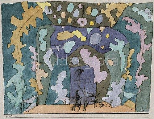 Paul Klee: Theater, Kleines Bühnenbild. 1916