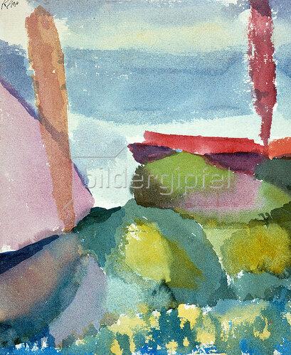 Paul Klee: Seeufer bei Regen. 1913
