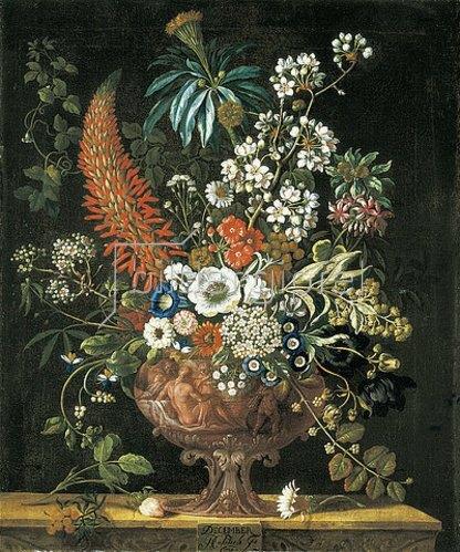 Pieter Casteels III: Die zwölf Monate. Ein floraler Kalender - Dezember. 1730-31